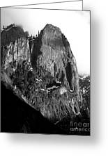 Mountains Of Yosemite . 7d6167 . Vertical Cut . Black And White Greeting Card