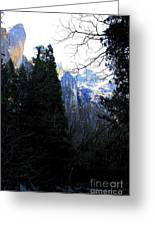 Mountains Of Yosemite . 7d6214 Greeting Card
