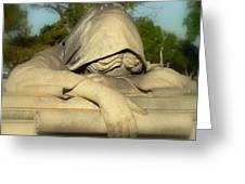 Mourning Woman Greeting Card