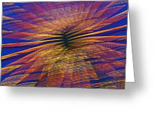 Moving Abstract Lights Greeting Card