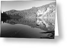 Mowich Lake Mono Print Greeting Card