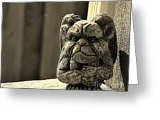 Mr G For Grouchy Gargoyle Esq Greeting Card