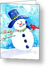 Mr Snowman Greeting Card