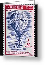 Mrs Graham The Balloonist Greeting Card