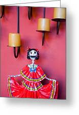Ms. Day Of The Dead Greeting Card