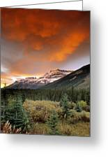 Mt. Amery And Dramatic Clouds, Banff Greeting Card
