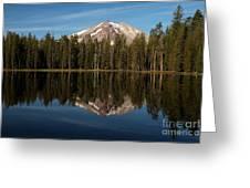 Mt Lassen In Summit Lake Greeting Card