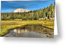 Mt Lassen Reflections Greeting Card