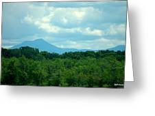 Mt Mansfield From Malletts Bay Greeting Card