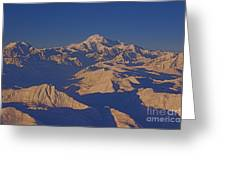 Mt. Mckinley Sunset From Above Greeting Card