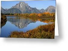 Mt. Moran Reflection Greeting Card