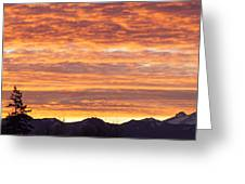 Mt Rainier December Sunrise Greeting Card