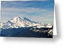 Mt Rainier Panoram Greeting Card
