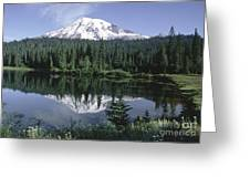 Mt. Ranier Reflection Greeting Card