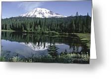 Mt. Ranier Reflection Greeting Card