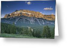 Mt Rundle And The Bow River Greeting Card