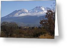 Mt Shasta Autumn II Greeting Card