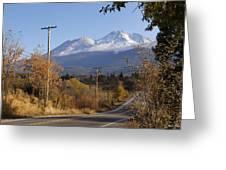 Mt Shasta Autumn Greeting Card