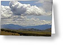 Mt Shasta On A Showery Spring Day Greeting Card