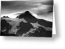 Mt Shuksan Monochrome Greeting Card