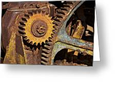 Mud Caked Gears Greeting Card