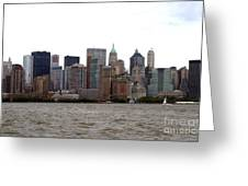 Multi Color Nyc Buildings Greeting Card