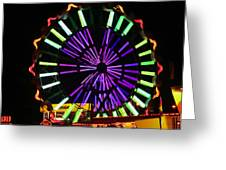 Multi Colored Ferris Wheel Greeting Card