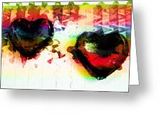 Multi Colored Hearts Greeting Card