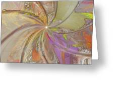 Multi Colored Pinwheel Greeting Card