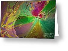 Multi Colored Rainbow Greeting Card by Deborah Benoit