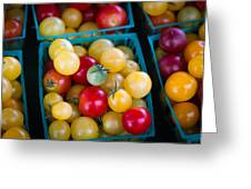 Multicolored Baby Tomatoes Greeting Card