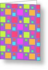 Multicoloured Squares Greeting Card by Louisa Knight