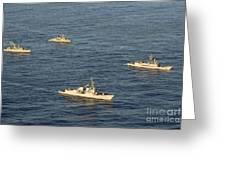 Multinational Navy Ships Move Greeting Card