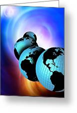 Multiple Dimensions, Conceptual Artwork Greeting Card by Victor Habbick Visions