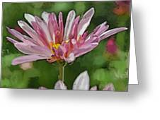 Mum Is In The Pink Digital Painting Greeting Card
