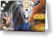 Mural Art Greeting Card