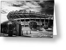 Murrayfield Stadium Edinburgh Rugby Scotland Greeting Card by Joe Fox