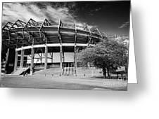 Murrayfield Stadium Edinburgh Scotland Rugby Greeting Card
