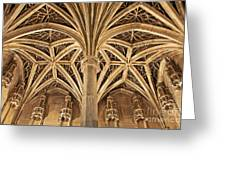 Musee De Cluny Chapel Vault Greeting Card