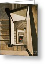 Museum Stairs Greeting Card