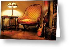Music - String - The Chair And The Lute Greeting Card