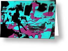 Music - Underground Art Greeting Card