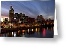 Music City Sunset Greeting Card