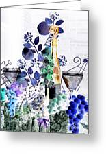 Music With Wine 1 Greeting Card