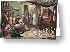 Musical Evening Ad, C1890 Greeting Card