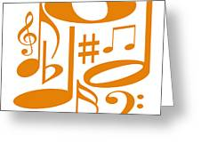 Musical Orange Greeting Card