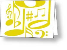 Musical Yellow Greeting Card