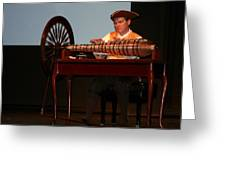 Musician And Glass Armonica Greeting Card