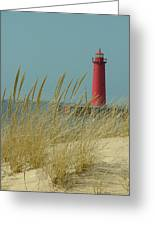Muskegon Light House Greeting Card