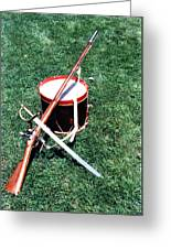 Musket Sword And Drum Greeting Card